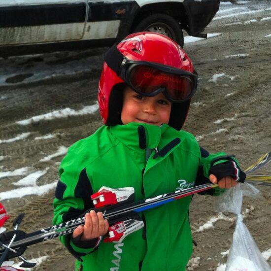 bimbo che va a sciare